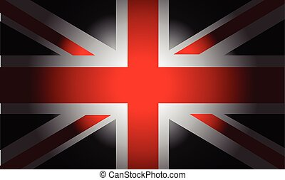 Black Flag British - Stylish Black Flag British vector