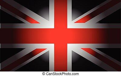 Black Flag British - Stylish Black Flag British vector