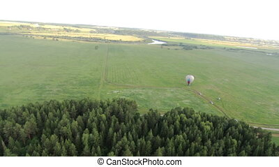 Aerial view of the rise of the balloon - Aerial View from...
