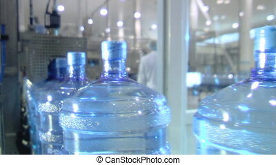 water factory 10 - Production line in the bottled water...