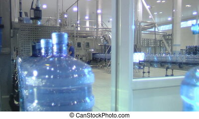 water factory11 - Production line in the bottled water...