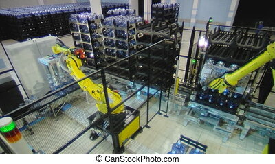 water factory 8 - Servo-controlled robot in the bottled...