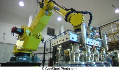 water factory 6 - Servo-controlled robot in the bottled...
