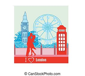 Romantic couple in London