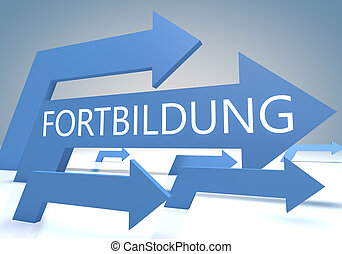Fortbildung - german word for further education - render...