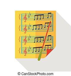 表, 音樂, 套間, 圖象