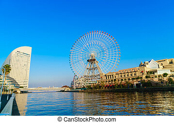 Ferris wheel - Yokohama,Japan - November 24,2015 : Ferris...