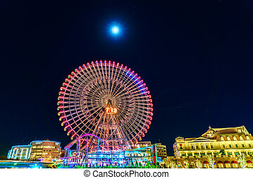 Ferris wheel at cosmo - Yokohama,Japan - November 24,2015 :...