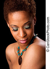 Face of beautiful African woman - Beautiful face of an...