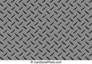 Diamond plate steel pattern