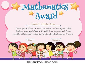 Certificate of mathematics award illustration