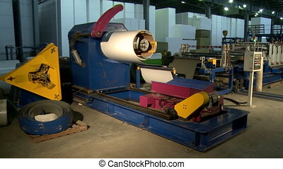 View of automated machine in production workshop - View of...