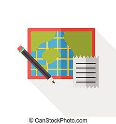 map location flat icon