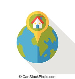 internet world location flat icon