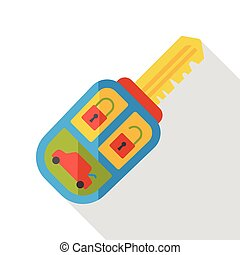 car key flat icon