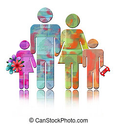Abstract Family - Abstract family colorful Illustration of...