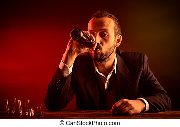 Businessman in a Pub