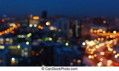 Evening cityscape