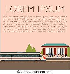 Suburban train station