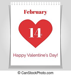Valentines day greeting poster.