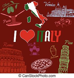 I love Italy background