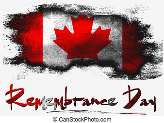 Remembrance Day Canada image with hi-res rendered artwork...