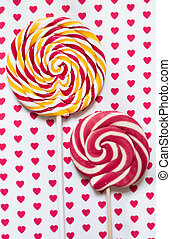 Lollipops - A retro looking photo of lollipops on a...