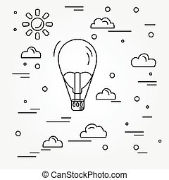 Air balloon. Vector.