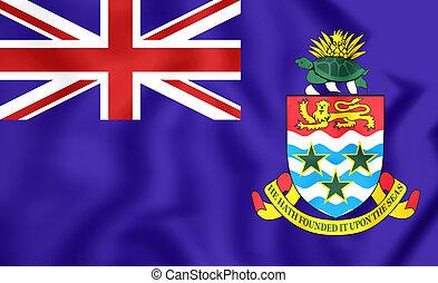 Flag of Cayman Islands - 3D Flag of Cayman Islands Close Up...