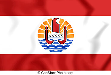 Flag of the French Polynesia - 3D Flag of the French...