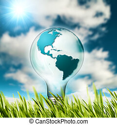 Eco concept Renewable energy and sustainable development...