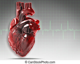Abstract medical and health backgrounds with human heart