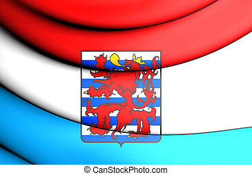 Flag of Luxembourg Province, Belgium - 3D Flag of Luxembourg...