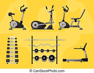 Gym isolated equipment, vector icon - Gym equipment, Gym,...