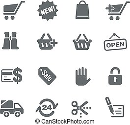 Icons Web store - Vector icons for your digital or print...