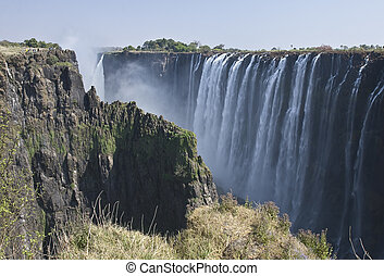 Victoria Falls in the Zambezi River in Zambia