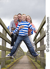 Smiling Family Portrait - Family Portrait taken at a low...