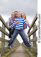 Smiling Family Portrait - Family Portrait taken at a low...