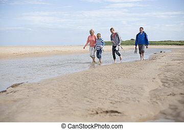 Paddling at the beach