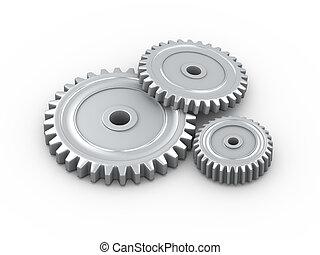 3d metal cogwheel gears