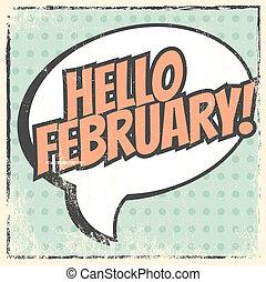 Basic RGB - hello february background, illustration in...