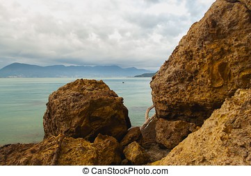 Lerici sea - View of particular landscape in Lerici, Liguria...