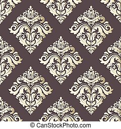 Seamless Vector Oriental Pattern With 3D Elements - Seamless...