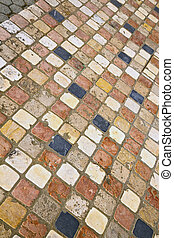 borghi street abstract pavement of a curch and marble - in...