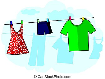 cloths - Illustration of cloths with shade background