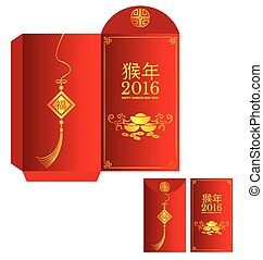 Red packet Chinese wording Translation is Year of Monkey -...