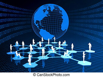 Social Community Network - Concept of how people from around...