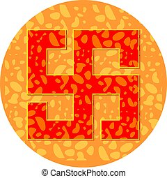 Swastika symbol - Illustration of Swastika symbol in...