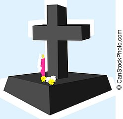 Cross with candle