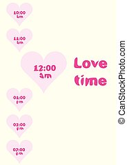Love time and heart